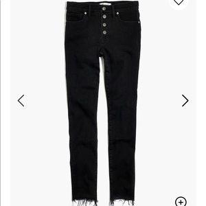 "9"" mid-rise skinny jeans Berkeley black"